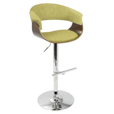 Vintage Lime Adjustable Barstool Adjustable Bar Stools Bar Stools Lumisource Lime green bar stool