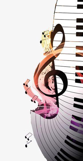 Notas Musicales Piano Clipart De Música Imágenes