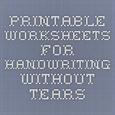 photo about Handwriting Without Tears Printable Worksheets named Pinterest