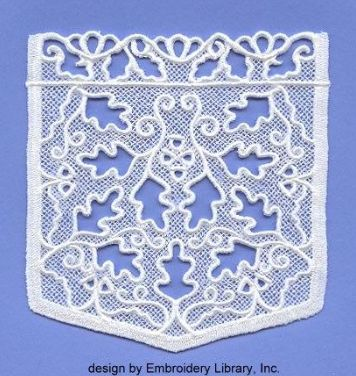 Cutwork Machine Embroidery Designs Set for Hoop 180x300 mm with Step-by step Cutwork Instruction Blue Lace Blouse