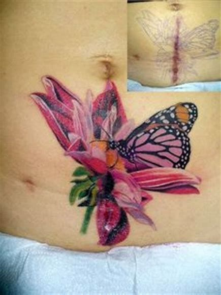 Image Result For Vertical Stomach Tattoos For Women Cover Up Tattoos Scar Cover Up Tattoos