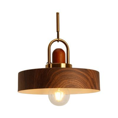 Rustic Style Hanging Light Wood Single Light Brown Pendant Lamp For Living Room Kitchen Pendant Lights In 2020 Wood Pendant Lamps Rustic Pendant Lighting Pendant Lamp