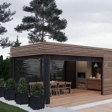 Outdoor Patios Traseros Jardines Y Terraza Quincho