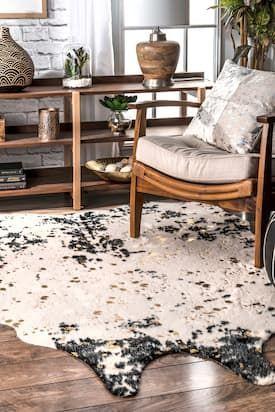 Rugs Usa Black Vaquero Macchiato Faux Cowhide Rug Animal Prints Shaped 5 9 X 7 7 Cowhide Rug Living Room Hide Rug Living Room Cow Hide Rug