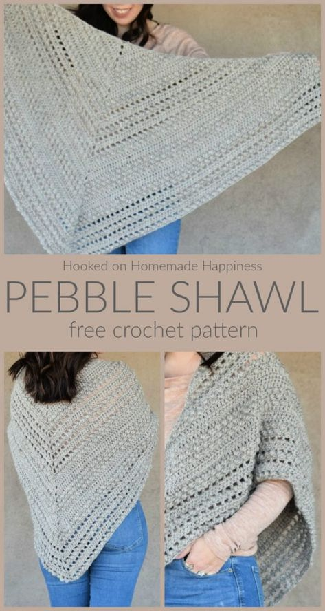 Pebble Shawl Crochet Pattern