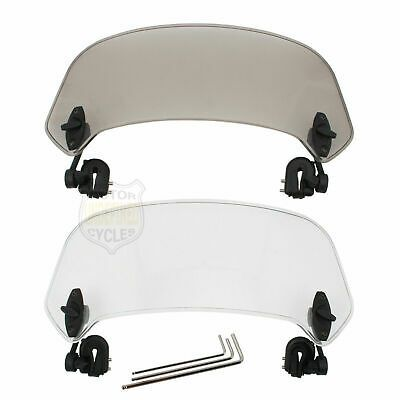 Clip On Windscreen Extension Spoiler Adjustable Windshield Deflector For Honda Windshield Wind Screen Ebay