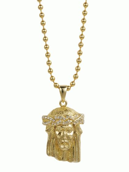 iced mini finish micro s piece rope necklace gold out pendant mens jesus men chain