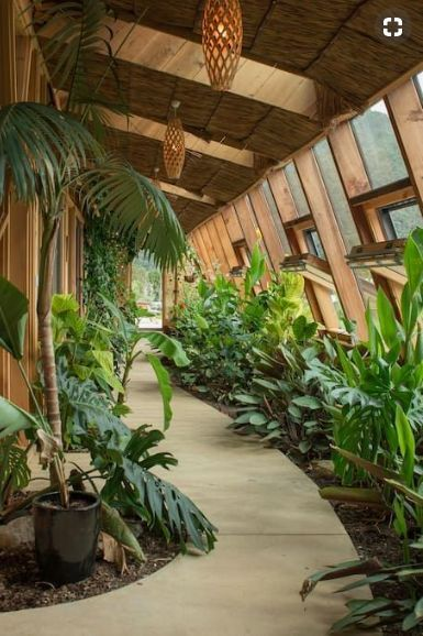 Love This Breezy Garden Path Conservatorium Earthship Home Earth Homes Earthship