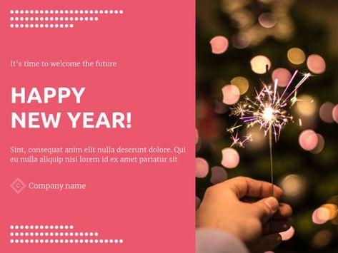 Create Your Own Hy New Year E Card With Xara Cloud Ecard Hynewyear Newyear 2019 Template