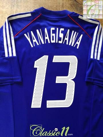 Official Adidas Japan Home Football Shirt From The 2002 03 International Season Complete With Yanagisawa 13 On The Front And Back O Football Shirts Football Shirts