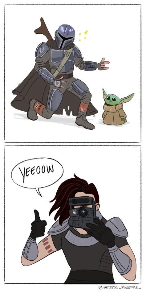 Mandalorian Cosplay, Star Wars Fan Art, Star Trek, Han And Leia, Star Wars Pictures, Star Wars Humor, Geek Humor, Cute Disney, Clone Wars