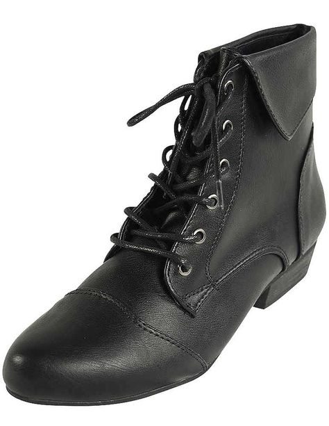 | INDY 11 Lace Up Oxford Cuffed Anke Bootie Boot