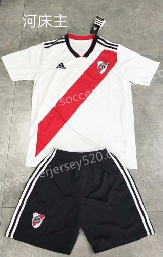 Home Plate 2020.2019 2020 Ca River Plate Home White Soccer Uniform 709