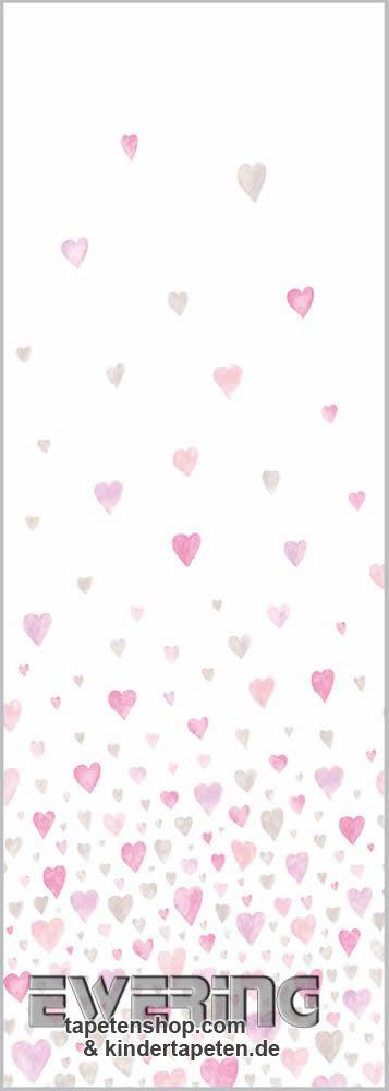36-AEP28184203 Alice & Paul Casadeco Herzen Wandbild rosa-grau