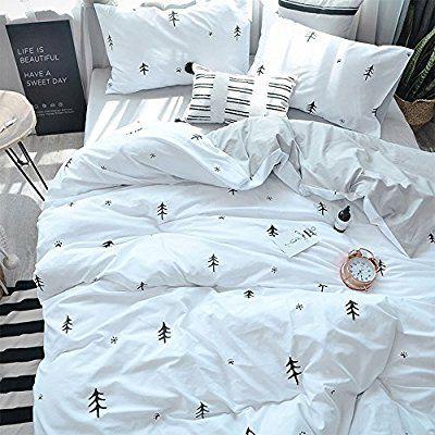 Amazon Com Bulutu Kids Duvet Cover Twin Cotton White Grey Premium Boys Girls Bedding Sets Twin Reversible Si Kids Duvet Cover Comforter Cover Full Duvet Cover