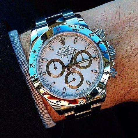 A nice clean Rolex Daytona wrist shot from .