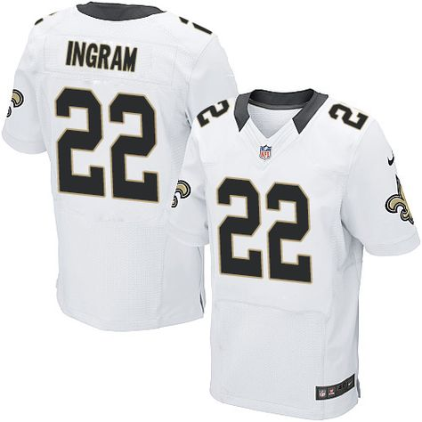 cedda6533be Nike Elite Mark Ingram White Men s Jersey - New Orleans Saints  22 NFL Road