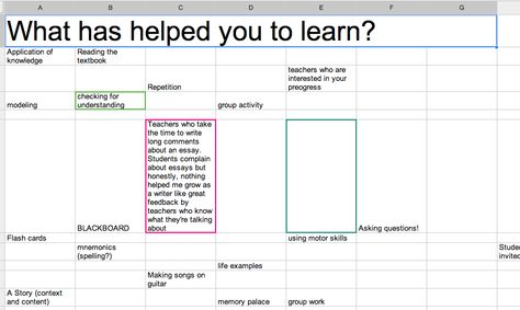 Creating Classroom Discussions with Google Sheets Education - google docs spreadsheet