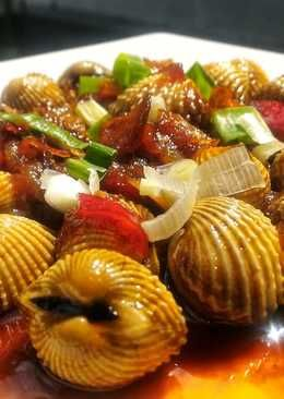 Resep Kerang Saus Padang : resep, kerang, padang, Kerang, Padang, Masakan,, Makanan,, Resep