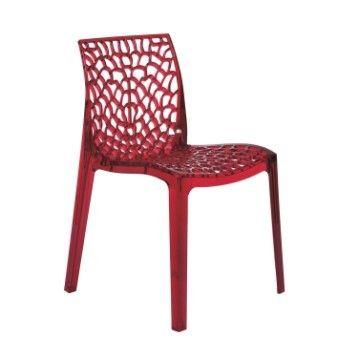 Chaise De Jardin En Polycarbonate Grafik Rouge Transparent Chaise De Jardin Chaise Meuble Maison