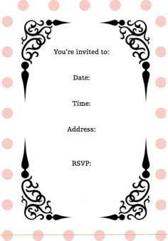 pink and gold invitations free printable gold invitations free