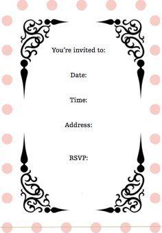 printable girl birthday invitations