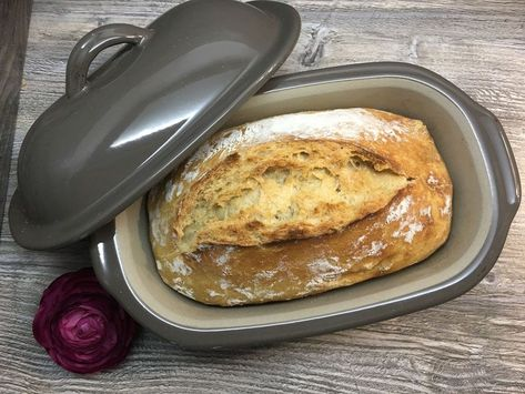 Photo of ᐅ Rezept Brot ohne kneten ⇒ Ofenhexe • Pampered Chef®