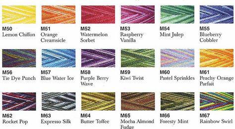 Maxi Lock Swirls Color Chart