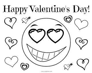 Valentine S Day Coloring Page Happy Valentine S Day Emoji
