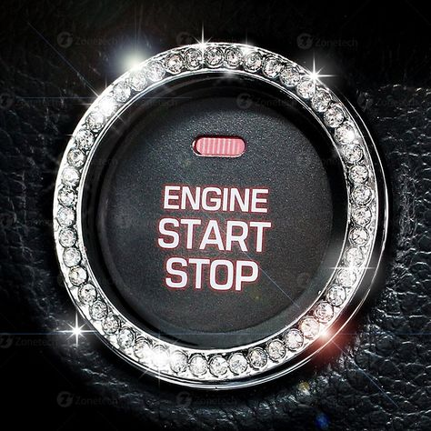 Rhinestone Car Bling Ring Emblem Decal, Bling Interior Car Accessories, Crystal Ring Decal For Car Button & Key Ignition, Knobs, Car Decor by Zusooz on Etsy Bling Car Accessories, Car Interior Accessories, Car Accessories For Girls, Range Rover Accessories, Pink Camo, Scion Tc, Radios, Diy Auto, Chevy