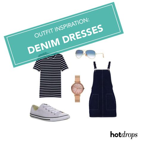 Get style inspiration on how to wear denim dresses throughout spring in our latest outfit guide  #denimdressoutfit #ootd #denimdresses