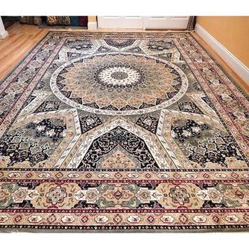 Bloomsbury Market Yarnell Living Room Hand Knotted Silk Greenbeige Area Rug Rug Size R Silk Area Rugs Beige Rug Floral Carpet