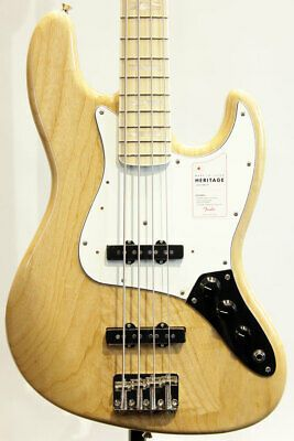Fender Made In Japan Heritage 70s Jazz Bass Natural New Ash Body In 2020 Guitar Bass Guitar Bass