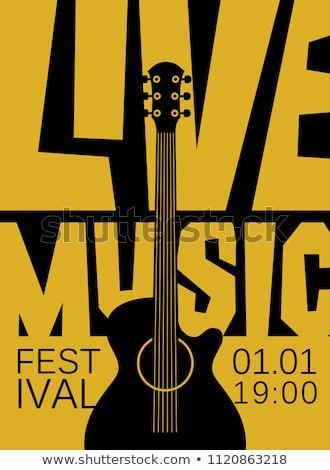 Vector Banner Or Poster For Live Music Festival With Acousti Vector Banner Or Poster For Live Music Fe Music Poster Live Music Poster Concert Poster Design