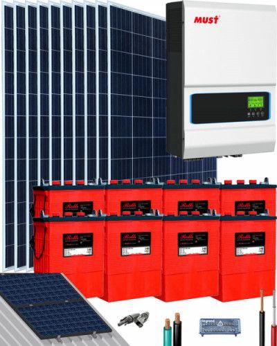 Kit Solar Agm 1000w 12v 2000whdia Al Mejor Precio En 2020 Kit Solar Kit Placas Solares