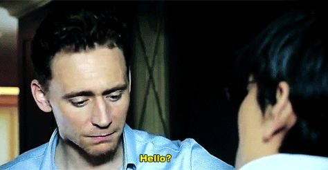 Tom Hiddleston - gif. This brow will be the death of me!