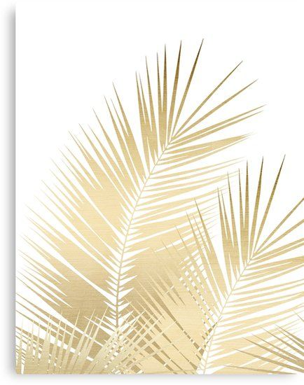 Gold Palm Leaves Dream Cali Summer Vibes 1 Tropical Decor Art Canvas Print By Anitabellajantz In 2021 Gold Abstract Wallpaper Palm Leaf Wallpaper Rose Gold Wallpaper