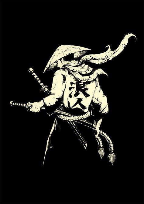 Japanese Oni, Warrior Drawing, Sword Drawing, Samurai Artwork, Japanese Sword, Cyberpunk Art, Japanese Art Samurai, Shadow Warrior, Samurai Warrior Tattoo