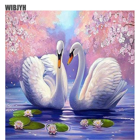 Diy 5d full Diamond Mosaic swans love Round Rhinestone Diamond Painting Cross Stitch Kits Diamond Embroidery Patterns C095. Yesterday's price: US $9.45 (7.78 EUR). Today's price: US $5.39 (4.44 EUR). Discount: 43%.