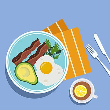 Breakfast Fried Egg And Meat Illustration Breakfast Clipart Breakfast Food Png And Vector With Transparent Background For Free Download Fried Breakfast Food Png Fried Egg