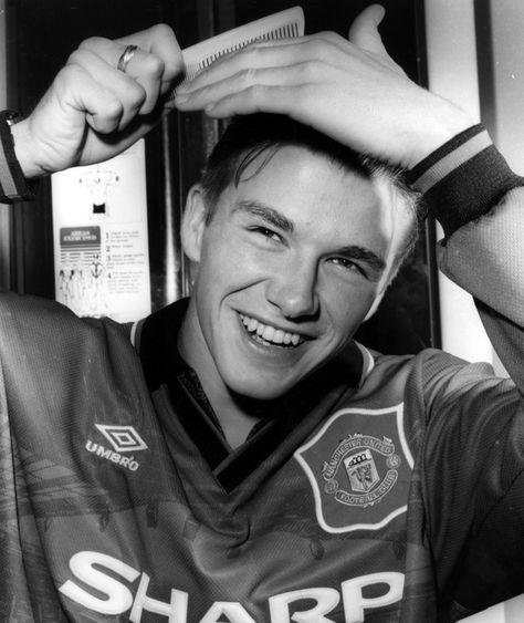 David Beckham joined Manchester United as a teenager, but even by he knew that having good hair was important!