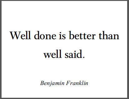 Benjamin Franklin  Free Printable Quotation For Classrooms  Fun