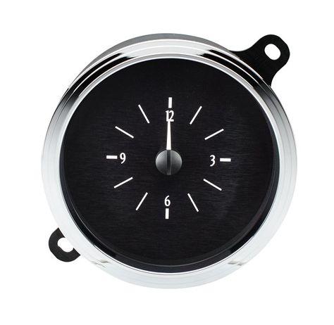 Sopear Light Small Car Dashboard Clock Classic Round Analog Clock Black Car Decoration 1,57/Inch