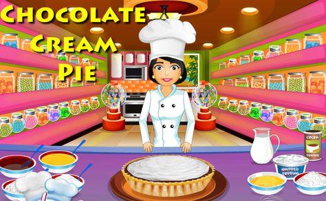 لعبة تحضير فطيرة الشوكولاتة بالكريمة لعبة حلوة من العاب طبخ