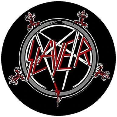 "Slayer Pentagram - Woven Back Patch 11.25"" Round"