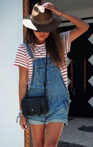 Try Out Short Overalls - Summer Roadtrip Outfit Ideas To Try - Photos