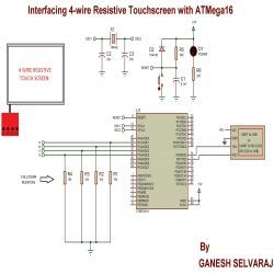 Circuit Diagram for Interfacing 4-wire Resistive Touchscreen ... on