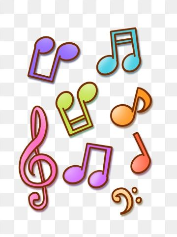 Hand Drawn Cartoon Colorful Musical Notes Music Symbols For Commercial Use Crayon Chalk Child Png Transparent Clipart Image And Psd File For Free Download