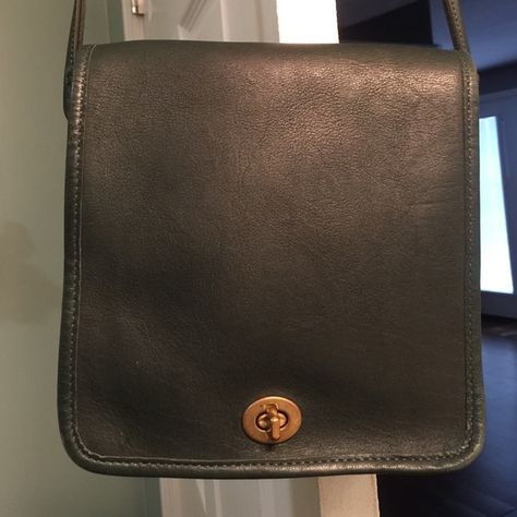 d3a3830c32ba Vintage Coach Crossbody Vintage Coach Crossbody Messenger bag in dark green  leather. Great vintage condition inside   out. Made in the USA!! Coach Bags  ...
