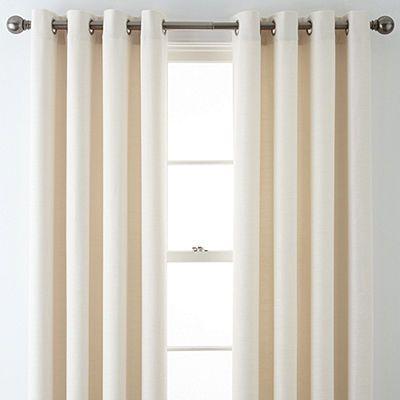 Liz Claiborne Quinn Basketweave Grommet Top Curtain Panel Panel